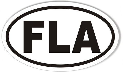 FLA Oval Bumper Stickers