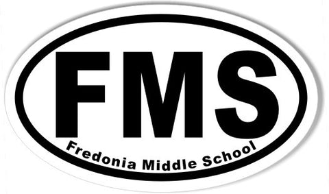 FMS Fredonia Middle School Oval Bumper Stickers