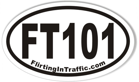 FT101 FlirtingInTraffic.com Custom Euro Oval Stickers