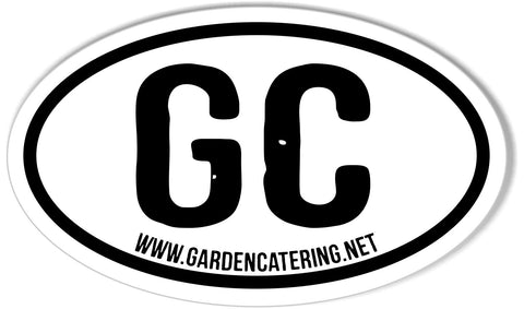 GC www.gardencatering.net Custom Oval Bumper Stickers