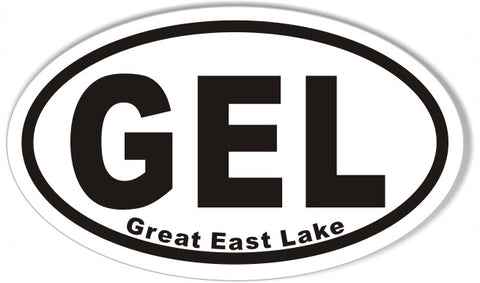 GEL Great East Lake Custom Euro Oval Stickers