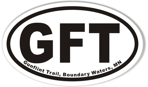 GFT Gunflint Trail, Boundary Waters, MN Oval Sticker