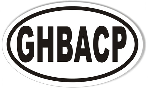 GHBACP Oval Bumper Stickers
