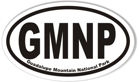 GMNP Guadalupe Mountain National Park Oval Bumper Sticker