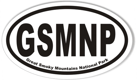 GSMNP Great Smoky Mountains National Park Oval Sticker