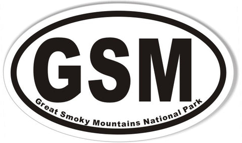 GSM Great Smoky Mountains National Park Oval Sticker
