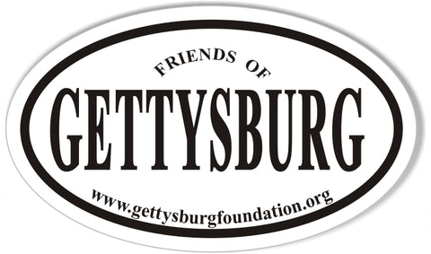 Friends of GETTYSBURG Custom Euro Oval Stickers