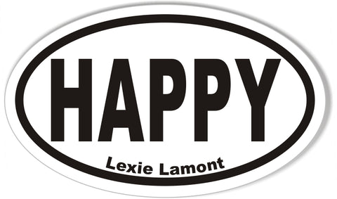 HAPPY Oval Bumper Sticker