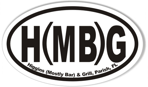 H(MB)G Custom Oval Bumper Stickers