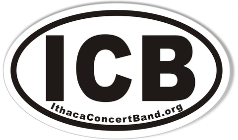 ICB IthacaConcertBand.org Oval Bumper Stickers