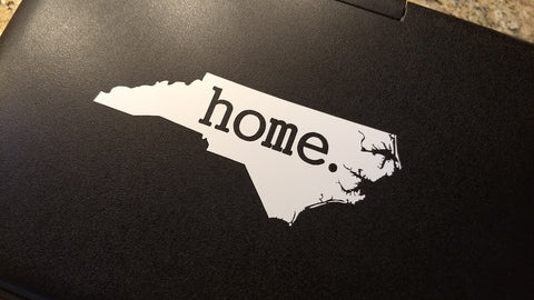 "North Carolina ""home."" Vinyl Decal"