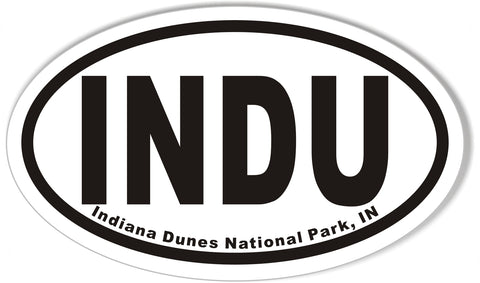 INDU Indiana Dunes National Park, IN Oval Bumper Stickers
