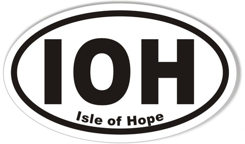 IOH Isle of Hope Oval Bumper Stickers