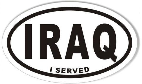 IRAQ I SERVED Oval Bumper Stickers