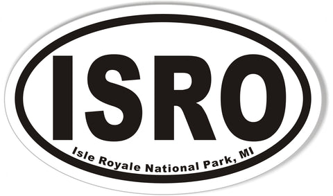 ISRO Isle Royale National Park, MI Oval Sticker