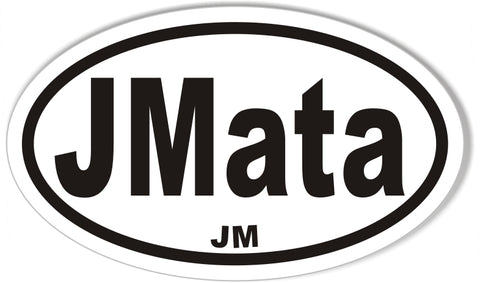 JMata Custom Oval Bumper Stickers