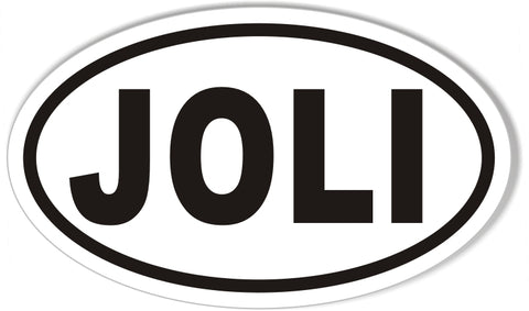 JOLI Oval Bumper Stickers