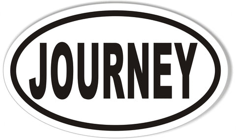 JOURNEY Custom Oval Bumper Stickers