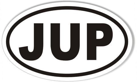 Jup jupiter florida euro oval stickers