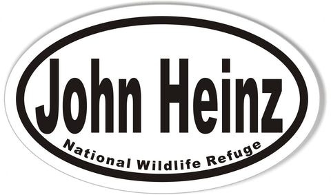 John Heinz National Wildlife Refuge Oval Bumper Stickers