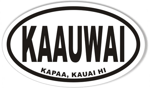 KAAUWAI Oval Bumper Stickers