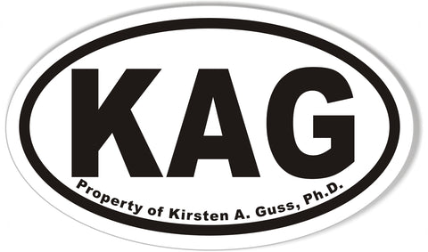 KAG Oval Bumper Stickers