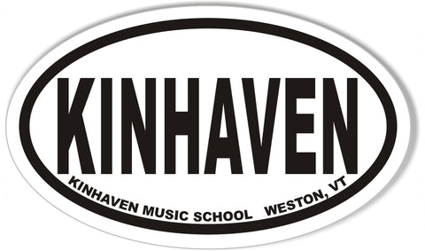 KINHAVEN Custom Oval Bumper Stickers