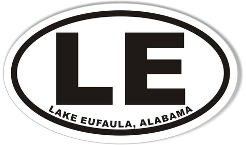 LE LAKE EUFAULA, ALABAMA Oval Bumper Stickers