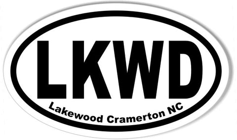 LKWD 3x5 Inch Custom Oval Bumper Stickers