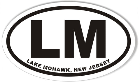LM LAKE MOHAWK, NEW JERSEY Euro Oval Stickers