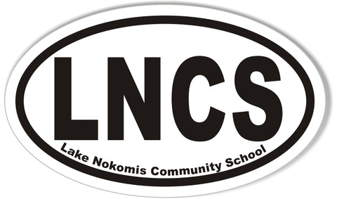 LNCS Lake Nokomis Community School Custom Oval Bumper Stickers