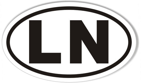 LN Oval Bumper Stickers