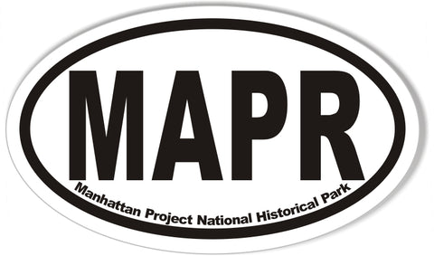 MAPR Manhattan Project National Historical Park Oval Bumper Stickers
