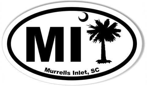 MI Murrels Inlet Oval Bumper Stickers