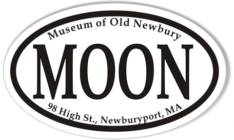 MOON  Custom Oval Bumper Stickers
