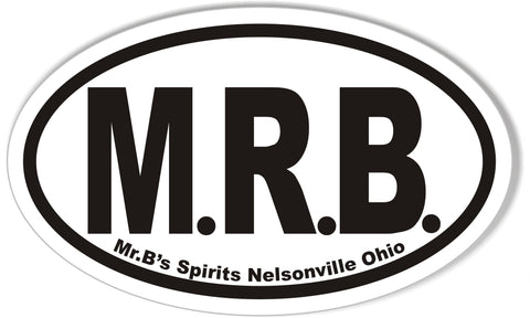 M.R.B. Custom Oval Bumper Stickers