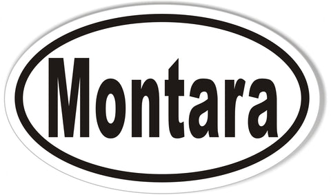Montara Custom Oval Bumper Stickers