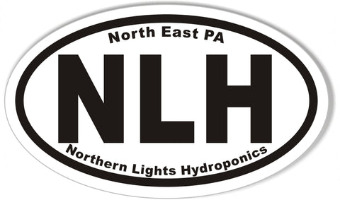 NLH Northern Lights Hydroponics Oval Bumper Stickers