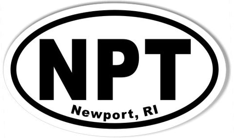 NPT Newport, RI Oval Bumper Stickers
