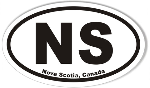 NS Nova Scotia, Canada Oval Bumper Sticker