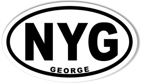 NYG GEORGE Custom Oval Bumper Stickers