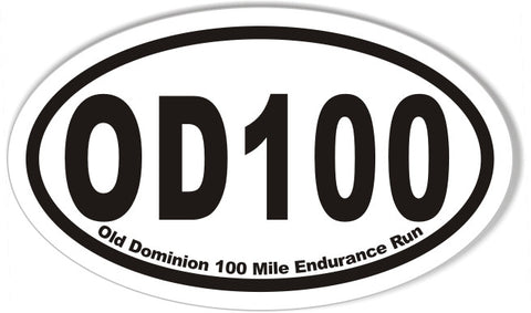 OD100 Custom Oval Bumper Stickers