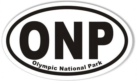 ONP Olympic National Park Oval Bumper Stickers