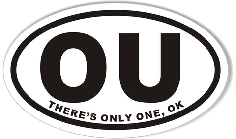 OU Oval Bumper Stickers