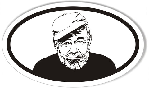 Ernest Hemingway Oval Bumper Stickers
