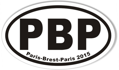 PBP Paris-Brest-Paris 2015 Euro Oval Stickers