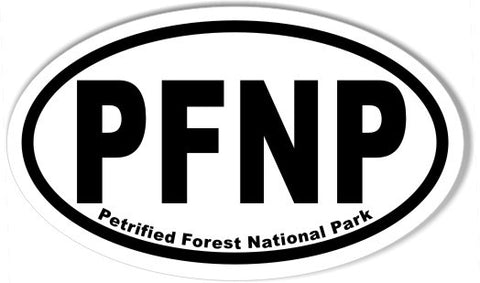 PFNP Petrified Forest National Park Oval Bumper Stickers