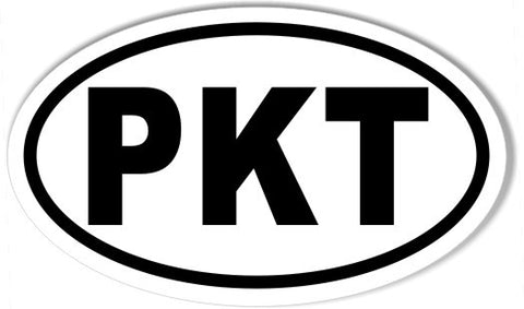 PKT Oval Bumper Stickers