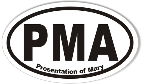 PMA Presentation of Mary Custom Euro Oval Stickers