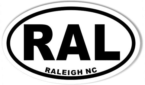 RALEIGH NC RAL Oval Bumper Stickers